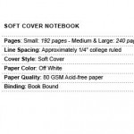 piccadilly softcover notebook