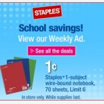 staples one cent notebooks