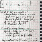 journal excerpt- anxiety