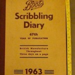 boots scribbling diary 1963