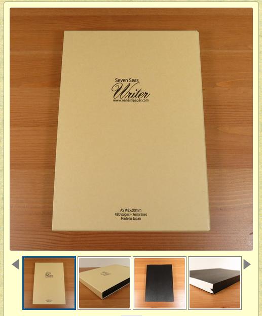 seven seas tomoe river paper notebook